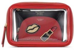 Victorias Secret Набор Косметичек 3 в 1 Оригинал из США, Красная Черная