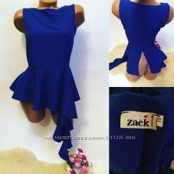 Блузка синяя, плотная