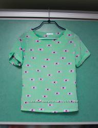 Блуза мятная с бантиками