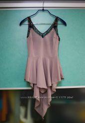 Блуза асимметричная цвета капучино