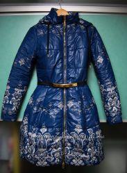 Куртка пальто зимнее, пышная юбка