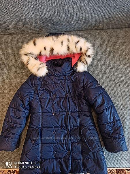 Куртка зимняя Бемби р 122-128 для девочки