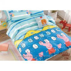 Сатиновый комплект в детскую кроватку
