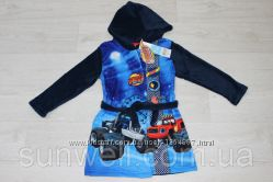 Детский халат с капюшоном для мальчиков Blaze, 3, 4 года