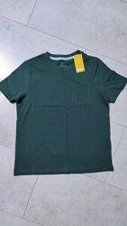Хлопковая футболка на мальчика однотонная