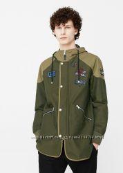 Куртка парка Mango демисезонная Eur L непромокаемая