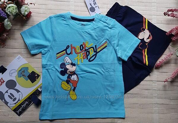 Пижама хлопковая/ летний костюм mickey mouse 86-92