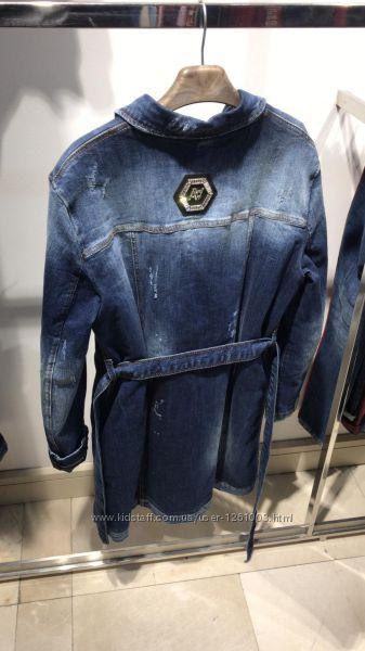 Пиджак женский джинсовый  утепленный   бренд AMN размер ХЛ