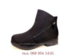 Ботинки-полусапожки, женские, зимние, замшевые, теплые и удобные. 36-41.