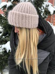 Модная молодежная шапочка в стиле Такори мохер ангора шерсть