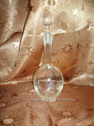Хрустальный штоф для спиртных напитков 0. 8 л, винтаж