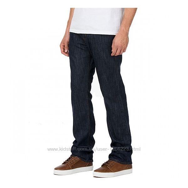 Фирменные тёмно-синие джинсы Vans размер 36/32