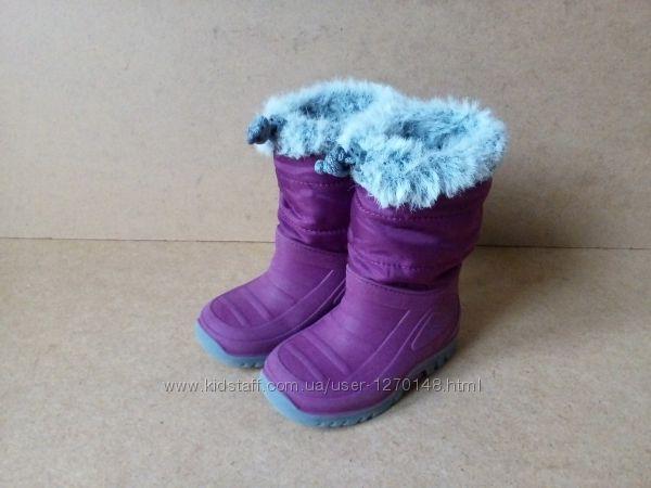 Сапоги сноубутсы Impidimpi Германия для девочки пурпурные