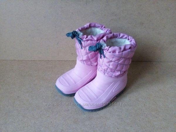 Сапоги сноубутсы Impidimpi для девочки розовые