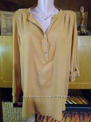 Блуза горчичного цвета