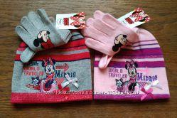 Disney Minnie Mouse шапка  перчатки подарочный набор комплект Оригинал