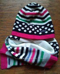 KENZO набор комплект шапка шарф для девочек Оригинал