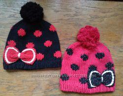 Зимняя вязаная шапка шапочка для девочек Качество
