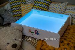 Акция Детский световой планшет-песочница. Набор для игры с песком в подарок