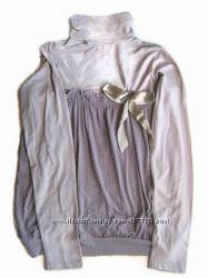 Джемпер  водолазка с эффектом 2в1. Красивая расцветка, подходит беременным