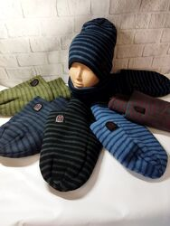 Зимние наборы шапкаснуд хомут на флисе