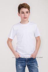 Футболка детская и подростку белая плотность 160 г на кв. м гипоаллерген