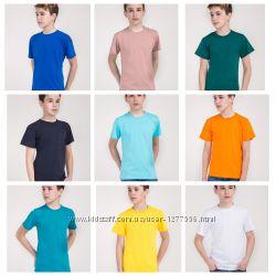 Детская футболка синяя, зелёная, желтая, оранжевая, чёрная  Высшее качество