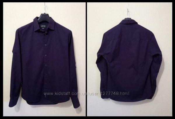 Качественная приталенная классическая рубашка 100 Хлопок