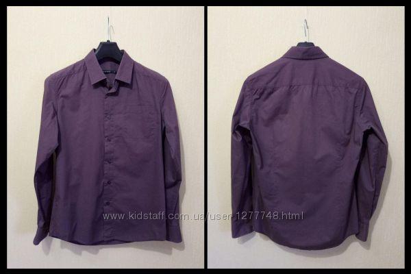 Качественная приталенная деловая рубашка SAVAGE 100 Хлопок