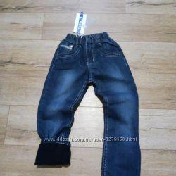Джинсовые штаны на флисе