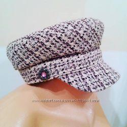 Стильная кепи в стиле Шанель из ткани букле.