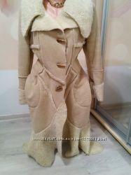 Фирменная стильная дубленка- пальто. Италия.  Rinosimento