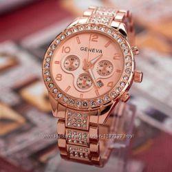 Часы женские Geneva rose gold
