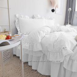 Комплект постельного белья с Рюшей Сатин премиум