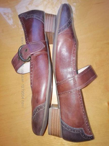 Туфли кожаные janet D 42размер