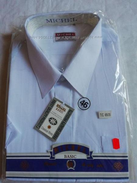 Рубашка, шведка мужская michel basic размер xxl-54-44 ворот 45-46