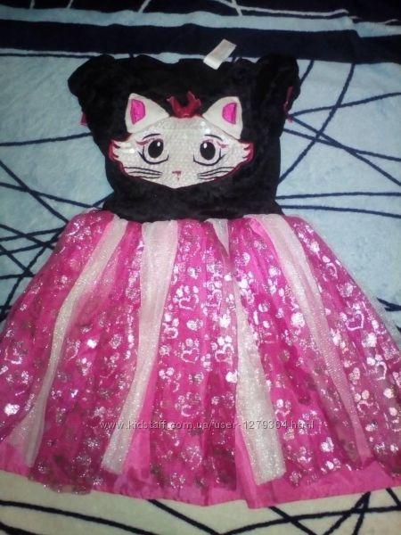 Карнавальный новогодний костюм платье кошечки tu на 1-2года 3-4года