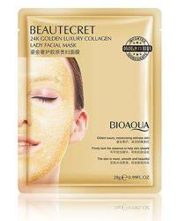 Гидрогелевая маска-патч Bioaqua beautecret 24k golden luxury collagen 28г