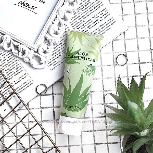 Пенка с алое seantree aloe cleansing foam