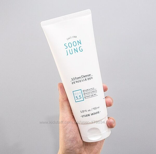 Пенка для умывания etude house soon jung ph 5.5 foam cleanser