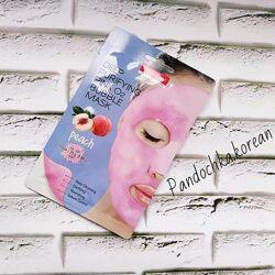 Маска кислородная персик Purederm Deep Purifying Pink O2 Bubble Mask Peach