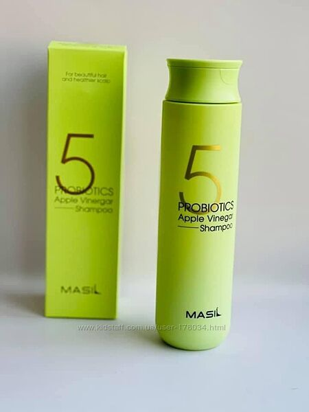 Шампунь с яблочным уксусом  Masil 5 Probiotics Apple Vinegar Shampoo