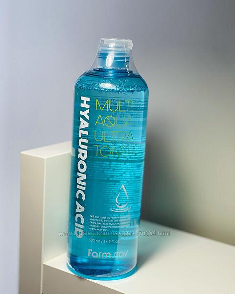 Тонер с гиалуроновой кислотой FarmStay Hyaluronic Acid Multi Aqua Ultra