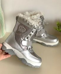 Зимние термо ботинки дутики сноубутсы для девочки на овчине Tom. m