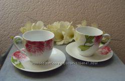 Чайные и кофейные наборы на 4 предмета разные