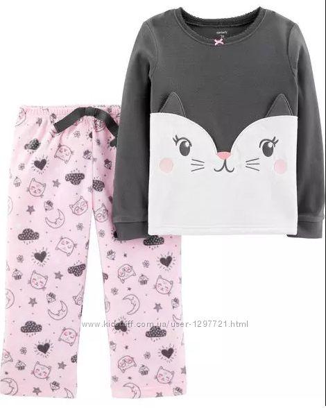 Carters Пижама флисовая для девочки 2Т 3Т