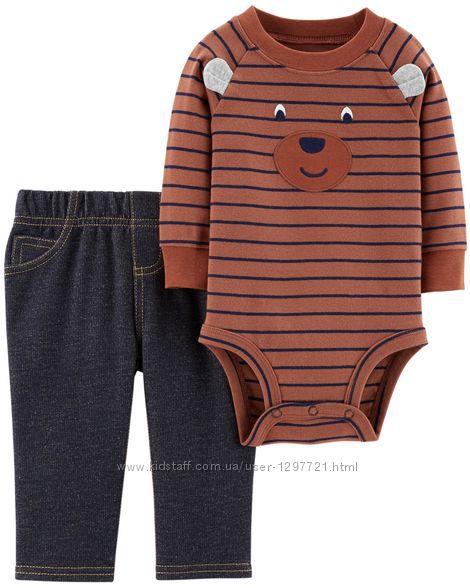 Carters Комплект 2-ка Боди штанишки для мальчика 12мес