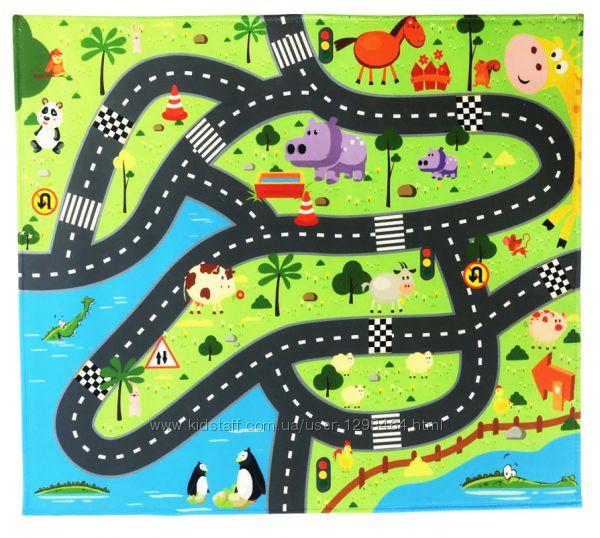 Красочный игровой коврик Авто 876