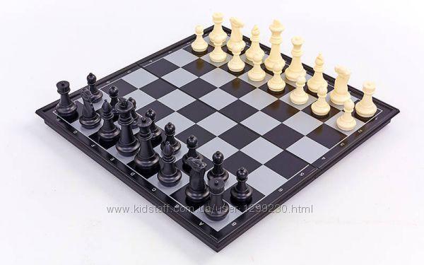 Шашки, шахматы и нарды  магнитные 32 см