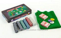 Покер в металлической коробке 300 шт